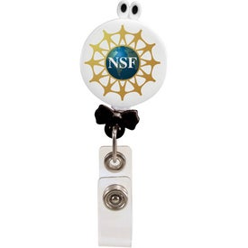 Googly-Eyed Bow Tie Badge Holder Imprinted with Your Logo