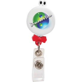 Googly-Eyed Bow Tie Badge Holder Branded with Your Logo