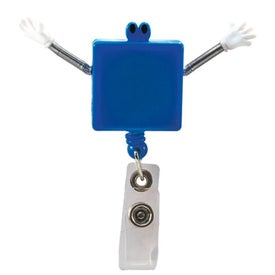 Googly Eyed Square Badge Holder with Your Logo