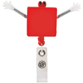 Googly Eyed Square Badge Holder Printed with Your Logo