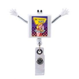 Googly Eyed Square Badge Holder for Advertising