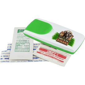 Grab-N-Go First Aid Kit with Hand Sanitizer (Full Color Logo)