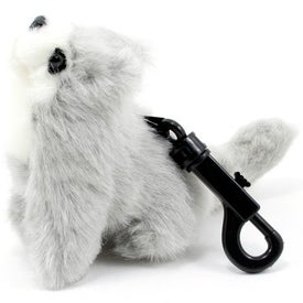 Branded Gray Wolf Pup Plastic Key Holder