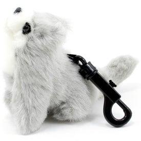 Branded Gray Wolf Pup Plastic Key Holder