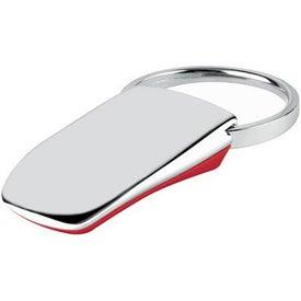 Logo Groove-N-Lock Thumb Pad Key Tag
