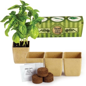 Custom GrowPot Eco-Planter Herb 3 Pack