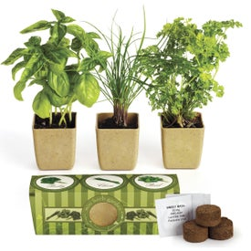 Imprinted GrowPot Eco-Planter Herb 3 Pack