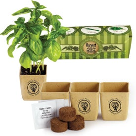 GrowPot Eco-Planter Herb 3 Packs