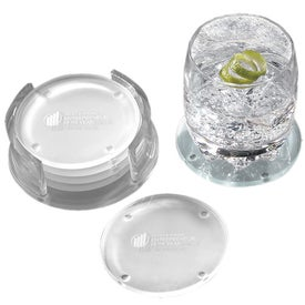 Guggenheim Round Glass Coaster Set for Your Company