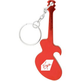 Guitar Key Chain Bottle Opener with Your Slogan
