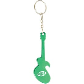 Logo Guitar Key Chain Bottle Opener