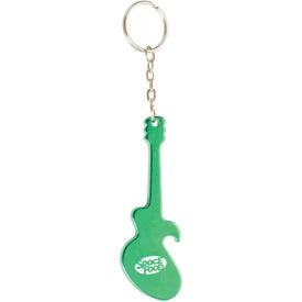 Logo Guitar Key Chain Bottle Opener
