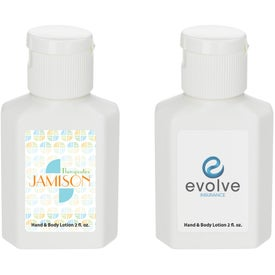 Hand and Body Lotion Printed with Your Log