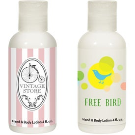 Hand and Body Lotion Bottle