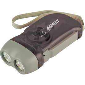 Hand Crank Powered Flashlight for Advertising