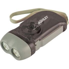 Hand Crank Powered Flashlight for Advertising