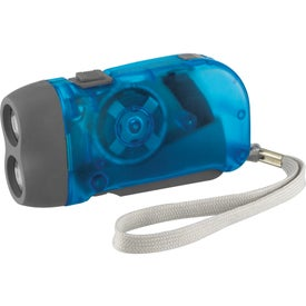 Hand-Powered Flashlight with Your Slogan