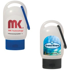 Hand Sanitizer With Carabiner Imprinted with Your Logo