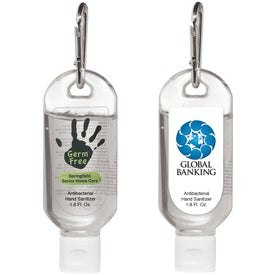 Monogrammed Hand Sanitizer With Carabiner