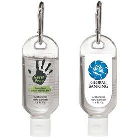 Monogrammed Hand Sanitizer With Carabiner