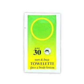 Branded HandsFree SPF 30 Sun N Bug Sunscreen Towelette