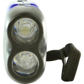 Printed Hand Squeeze Flashlight With Wrist Band