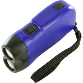 Hand Squeeze Flashlight With Wrist Band Giveaways