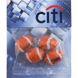 Jenny Billboard Candy Bag (Medium, Chocolate Footballs)