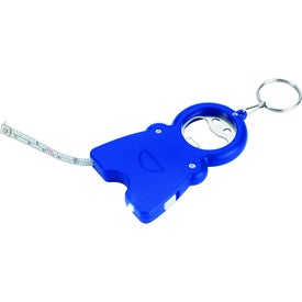 Happy Tri-Function Keychain with Your Logo