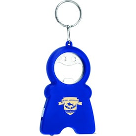Imprinted Happy Tri-Function Keychain