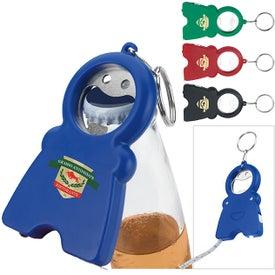 Branded Happy Tri-Function Keychain