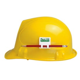 Advertising Hard Hat Clip Adhesive Mounted