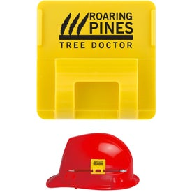 Hard Hat Clip Adhesive Mounted