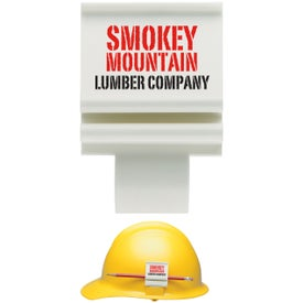Personalized Hard Hat Clip Slot Mounted