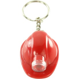 Hard Hat LED Key Chain Printed with Your Logo