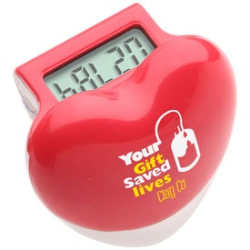 Healthy Heart Step Pedometer Branded with Your Logo