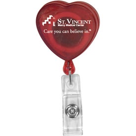 Heart Badge Holder Branded with Your Logo