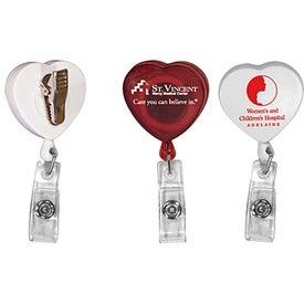 Heart Badge Holder (Digitally Printed)