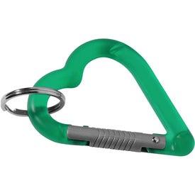 Printed Heart Carabiner Key Holder
