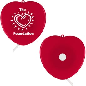 Heart Cloth Tape Measure Printed with Your Logo