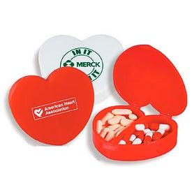Customizable Heart Design Pill Case