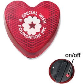 Heart Flashing Light Branded with Your Logo