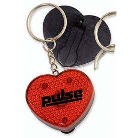 Heart Flashing Light Key Tag for Promotion