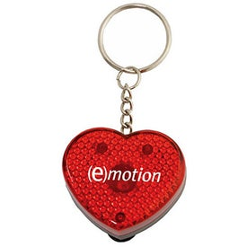 Heart Flashing Light Key Tag