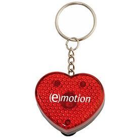 Heart Flashing Light Key Tag