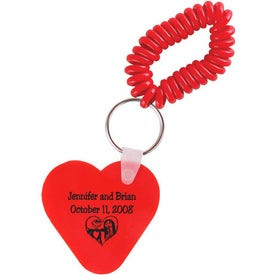 Heart Key Fob with Coil