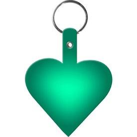 Monogrammed Heart Key Tag