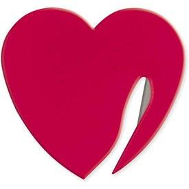 Custom Heart Letter Opener for Your Organization