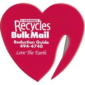 Custom Heart Letter Opener for Promotion
