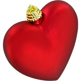 Heart Ornament Branded with Your Logo